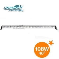 Hot sale 108w led light bar dune buggy 40 inch single row slim 12v waterproof led light bar