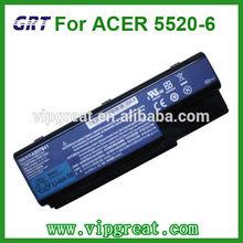 For ACER Aspire 5520 5520G 5710 5715Z laptop battery 6 cells Black