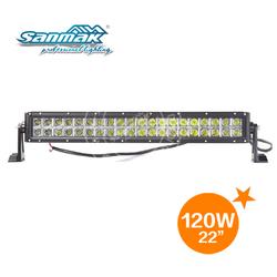 "Double row 22"" 120 watt led light bar 10-30v dc car led light 4x4 offroad accessories sm6021-120"