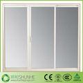 três painel de porta de vidro deslizante upvc com moldura