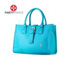 latest design genuine leather ladies handbag purple purse wholesale