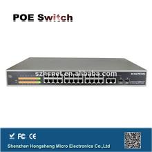 +2 Gigabit TP/SFP Combo Ports Web Smart Ethernet Switch (400W) 802.3 af/at 10/100M 24 port poe switch