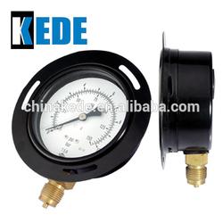 industrial bourdon tube with front flange pressure gauge