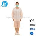 venta caliente no tejido blanco con cremallera dental de laboratorio desechables capa uniforme