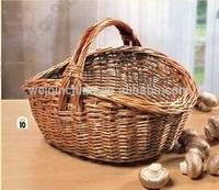 Wicker Mushroom Basket