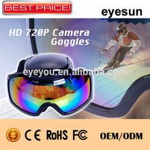 Wide Angle Hidden Camera Sunglasses,HD 720P ski goggles camera