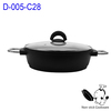 die casting aluminum cookware electric casserole pans with non-stick coating