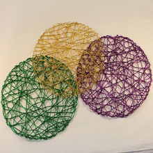 table placemat/paper round placemats/hollow placemat