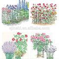 suporte para plantas em vasos de ferro