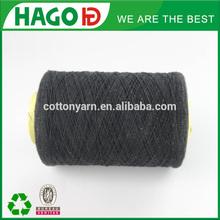 Ne 6s online sell blend regenerated knitting/weaving thick black yarn