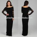 señoras 2014 elegante encaje de manga larga vestido de noche vestido de noche de china