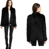 YR-2014 New Design/Long Sleeve Fashion Rabbit Fur Jacket/ Light Camel, Navy, Black/Custom-Made YR-667