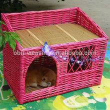 Wholesale large wicker rattan pet dog design bed dog house