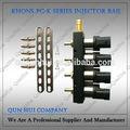 4 cyl preto bobina cng / lpg injector rail cng lpg gas kit para o carro