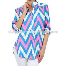 Womens chevron stripe blouse