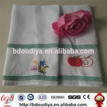 custom and cotton custom logo embroidery tea towels kitchen