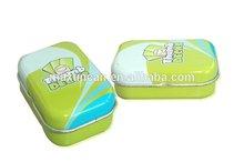 Accept custom order tinplate material mint tins in rectangular shape