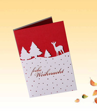 New design Warm Family Feeling Funny Christmas Cards /greeting Cards HG0910-03