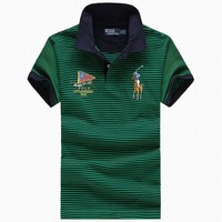 cotton sports polo shirt stripe brand polo t shirt supplier in china
