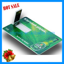 hotsale usiness card usb flash drive, card usb flash with logo printing