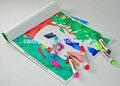 Barato coloring book com caneta de cor magic personalizado crianças coloring book