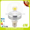 e14 e27 4w high quality round led light candle bulb warm white cool white