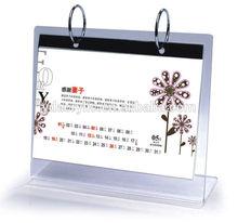 Clear acrylic calendar holder/Photo frames on table top