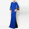 Latest women blue baju melayu maxi dress sequin model baju kurung modern