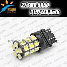 uper Bright 12V 3157 P27/7W Led Turning Brake Stop Reverse Lights Bulbs Car Led front Tail lamp 5050 SMD 27-led 3157 led lamp