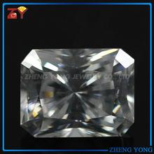 Pretty rectangle radiant cut synthetic zirconia diamonds
