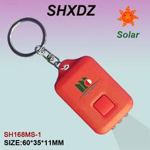 optional logo and color design solar keyring with 3 LEDs