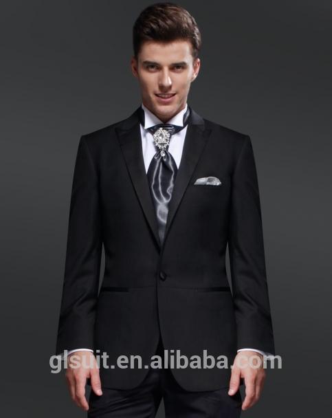 Hochzeitskleid anzug für männer 70% wolle ein tasten schwarz slim ...