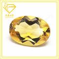 Amarillo 6*9mm suelta de forma oval corte de piedras preciosas en bruto de piedra natural citrino