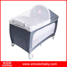 Large portable baby folding cot travel crib with mosquito net BP703F