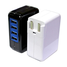 New product Soshine Power 4-USB 3.1A 15w Travel Wall Charger usb mobile travel charger 4 port usb charger