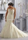 Free shipping sweetheart beaded customize wholesale cheap 2014 big size XL XXL mermaid lace wedding dress CWFaw5813