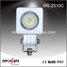 Popular! White color housing 10w c ree led work light led headlight motorcycle led driving lights