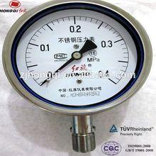 Male Thread Bottom Connection Stainless Steel Bourdon tube pressure gauge