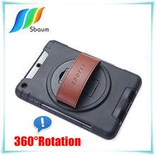 360 Ratation Hand Holder Kickstand Case For IPAD MINI,360 degree rotate for ipad case