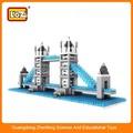 Bloques de micro, la torre británica modelo de puente, bloque pequeño edificio conjunto
