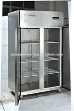 Top sales commercial upright refrigerator freezer with double glass door