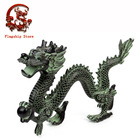 Bronze Material Chinese dragon playing ball ,dragon statue ,fengshui dragon