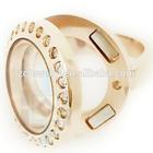 316l stainless steel ring, locket ring, fashion superman stainless steel wedding rings