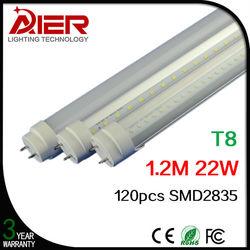 new 2015 t8 led tube light 4ft 1200mm 22W AC85-265V