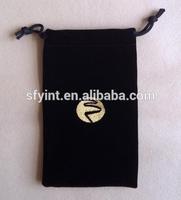 small fabric velvet jewelry drawstring bag