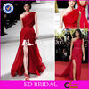 E776 China Supplier Fashion Red One Shoulder Sexy Split Elie Saab Dresses For Sale