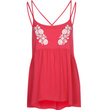 2014 wholesale new fashion design red sexy girls fancy top