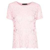 custom ladies blouse lace cloth pink new fashion chiffon blouse 2014
