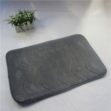dyed bamboo floor mat