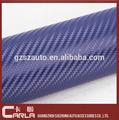 """Pvc 60"""" x100' carro mudança da cor azul vinil fibra de carbono/film"""